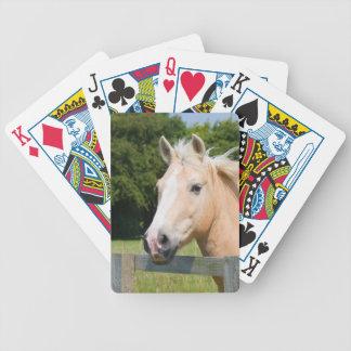 Horse head palomino beautiful playing cards