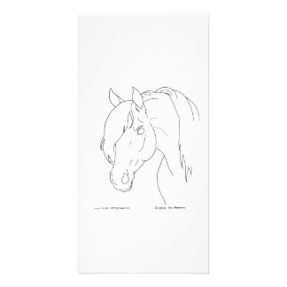 Horse Head Personalized Photo Card