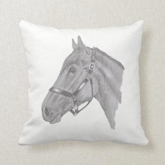 Horse head profile cushion