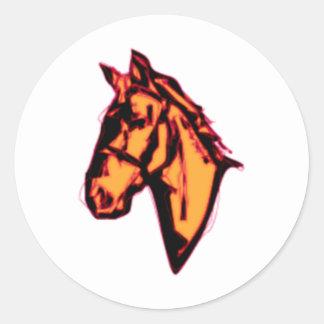 Horse Head Round Sticker