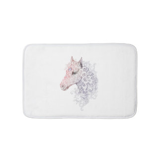 Horse Head Tattoo Bath Mats