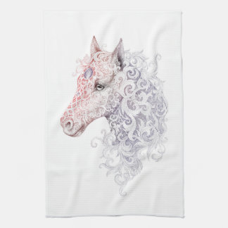 Horse Head Tattoo Kitchen Towel