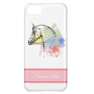 Horse Head Watercolors iPhone 5C Case