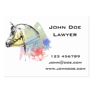 Horse Head Watercolors Pack Of Chubby Business Cards