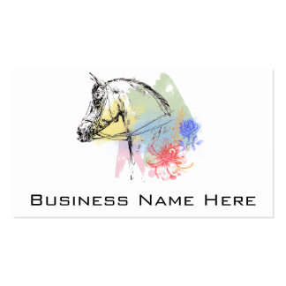 Horse Head Watercolors Pack Of Standard Business Cards