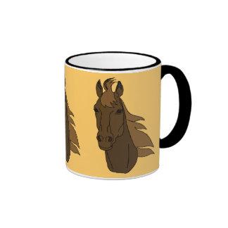 horse heads ceramic mug