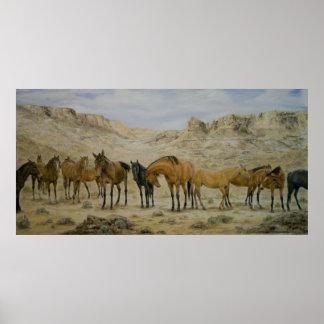 Horse Herd Poster