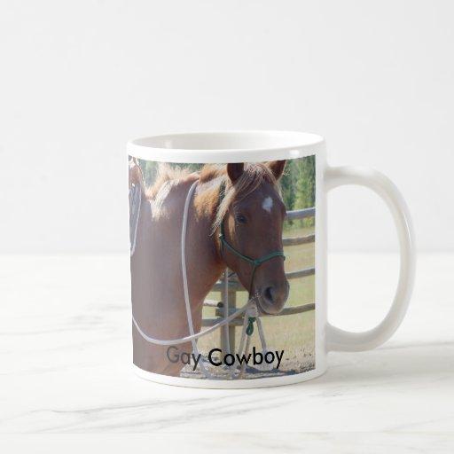 Horse horse horse, Gay Cowboy Basic White Mug