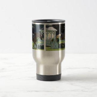 Horse, horse show, buckskin horse stainless steel travel mug