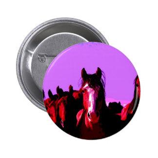 Horse - Horses 6 Cm Round Badge