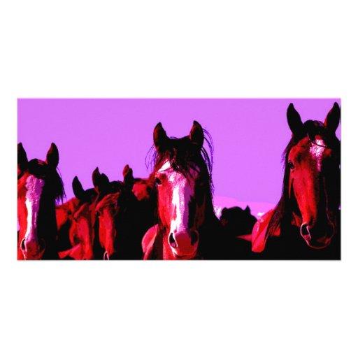 Horse - Horses Customized Photo Card