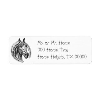 Horse & Horseshoe Return Address Avery Labels