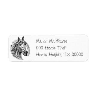 Horse & Horseshoe Return Address Avery Labels