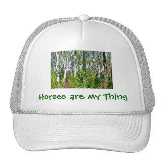 Horse in Aspens Trucker Hat
