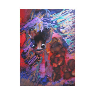 Horse In Bright colors Canvas Print