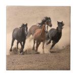 Horse In Fall II Ceramic Tile