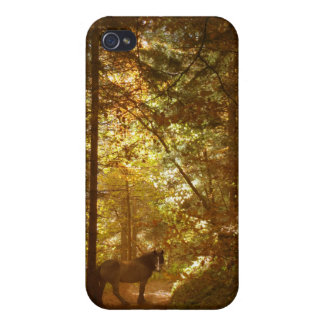 Horse in Magical Forest Covers For iPhone 4