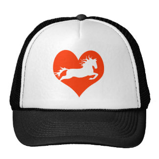 Horse In My Heart (white on red) Cap