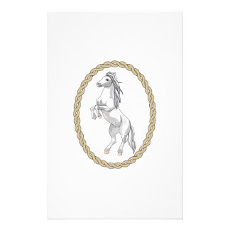 HORSE IN ROPE FRAME PERSONALIZED STATIONERY