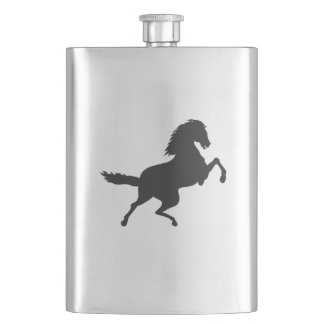 HORSE IN SILHOUETTE FLASK