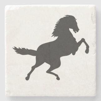 HORSE IN SILHOUETTE STONE BEVERAGE COASTER