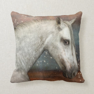 Horse In Starlight Throw Pillow