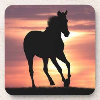 Horse In Sunrise Coaster