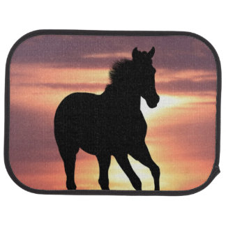Horse In Sunrise Floor Mat