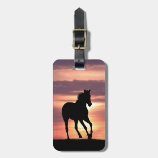 Horse In Sunrise Luggage Tag
