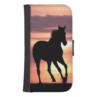 Horse In Sunrise Samsung S4 Wallet Case