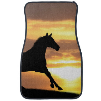 Horse In Sunset Car Mat
