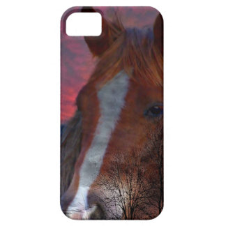horse in sunset iphone case