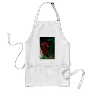 Horse in the forest standard apron
