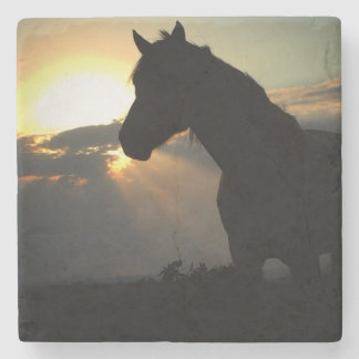 Horse in the Sunset Coaster Stone Coaster