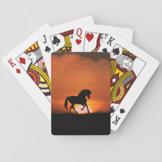 Horse in the Sunset Playing Cards