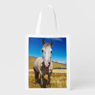 Horse in Torres del Paine National Park, Laguna Reusable Grocery Bag