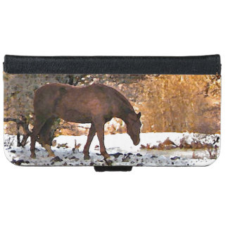 Horse in Winter iPhone 6 Wallet Case