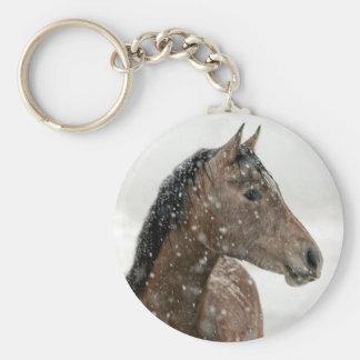 Horse in Winter Key Ring