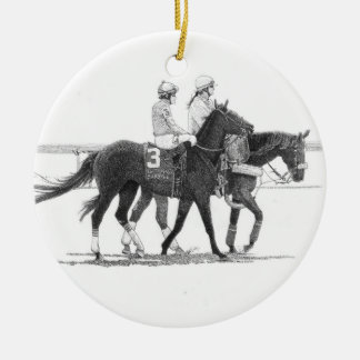 Horse & Jockey Ornament