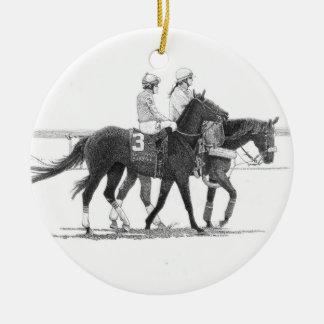 Horse & Jockey Ornament