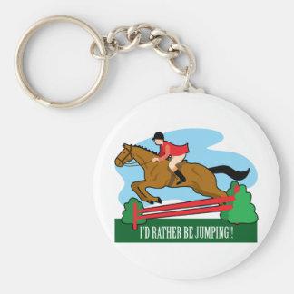 Horse Jump Key Ring