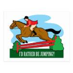 Horse Jump Post Card