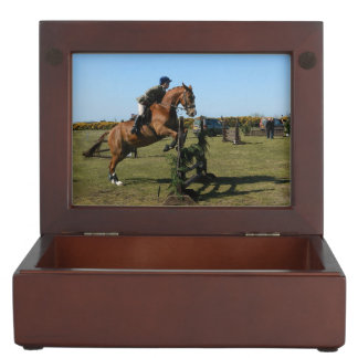Horse Jumper And Rider Keepsake Box