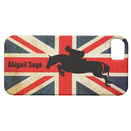 Horse Jumper Union Jack Flag iPhone Case