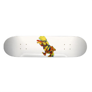 Horse Jumping Abstract Red Yellow Blue theme Custom Skate Board