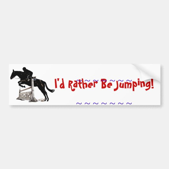 Horse Jumping Bumper Sticker