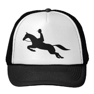 horse jumping icon cap