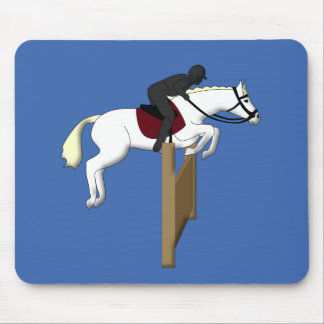 horse jumping mouse pad
