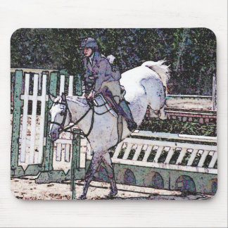 Horse jumping mousepad