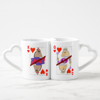 Horse King and Queen of Hearts Couple Mugs